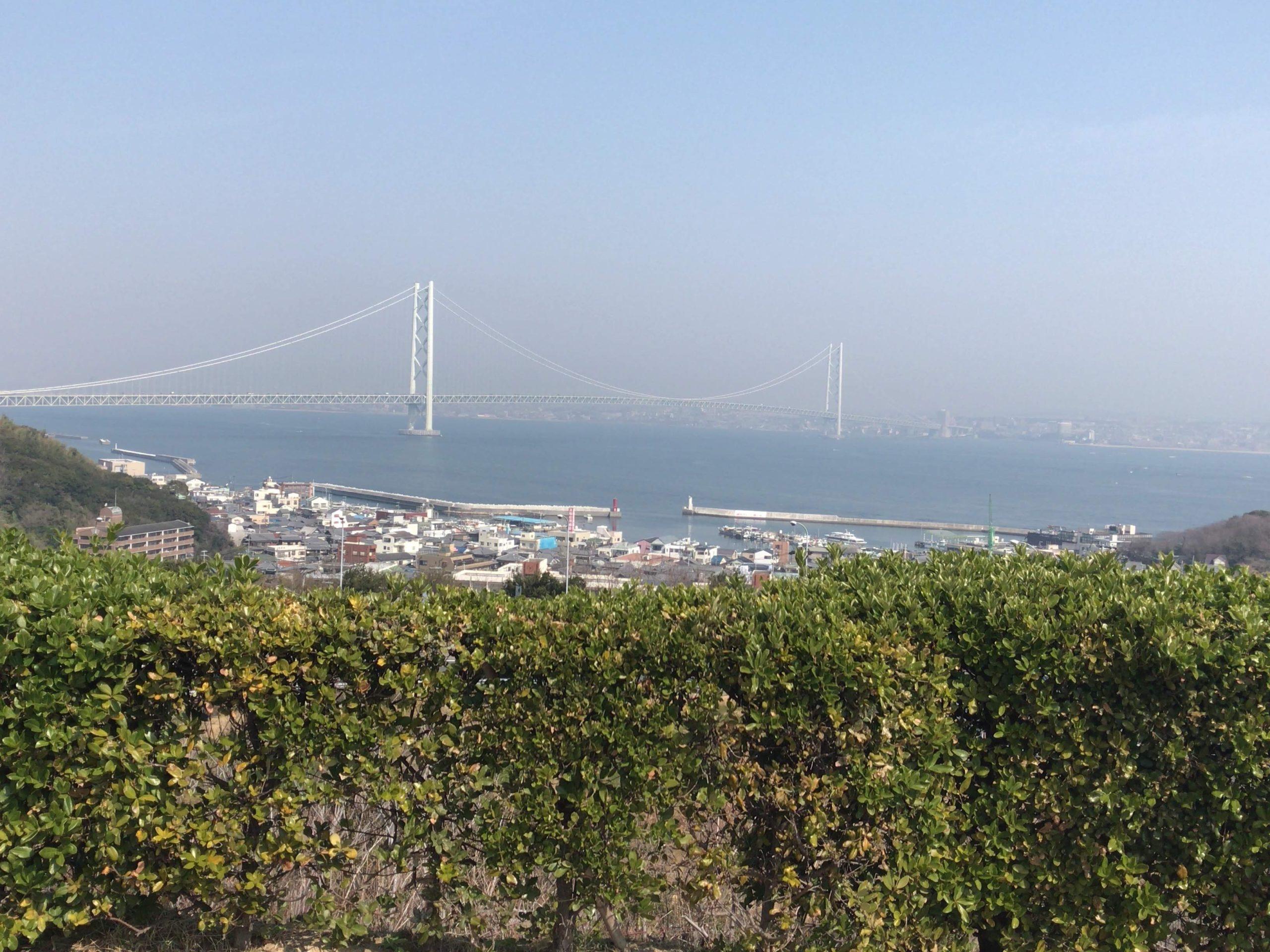 淡路島みた明石海峡大橋