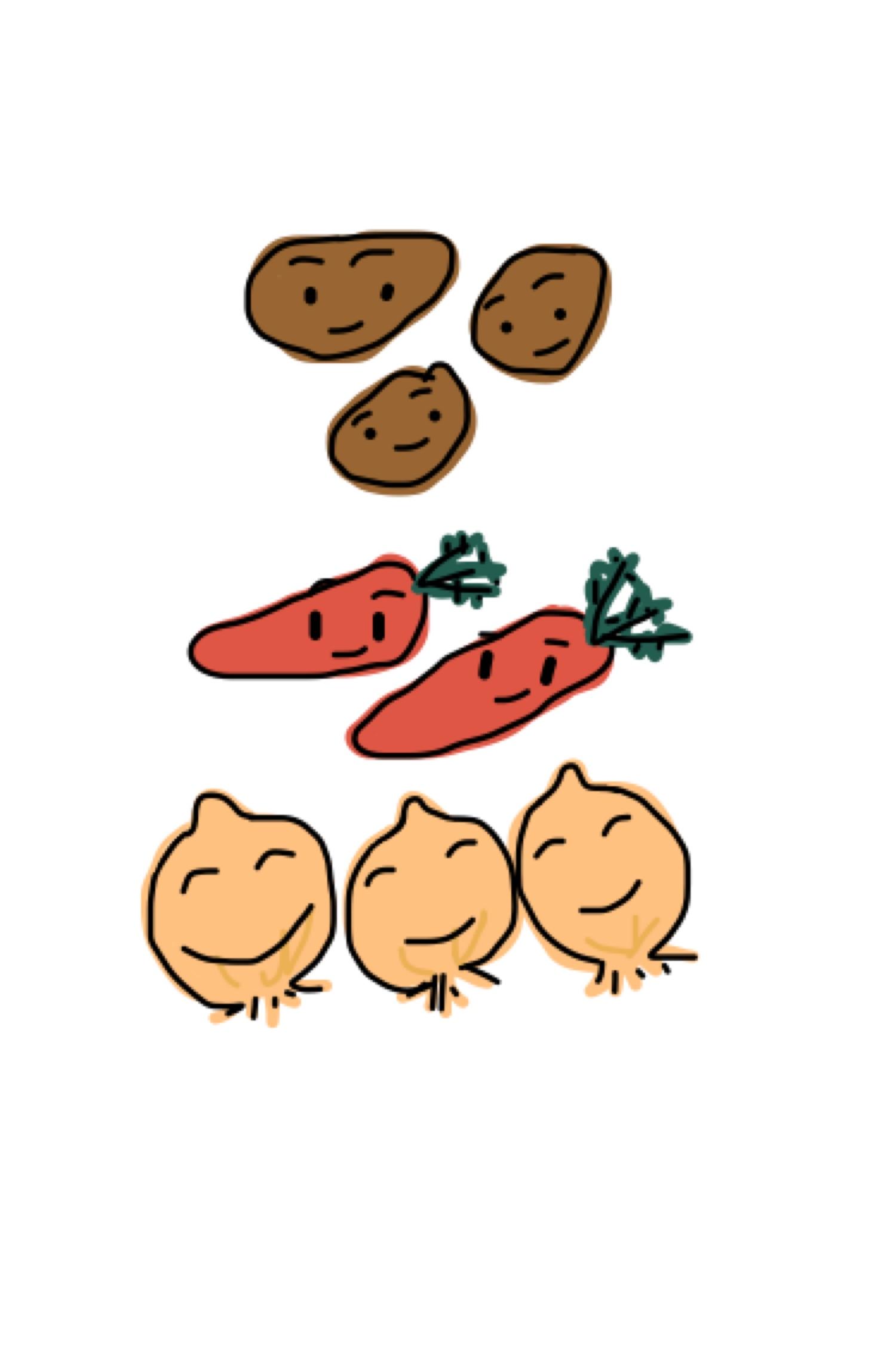 カレーに入れる野菜